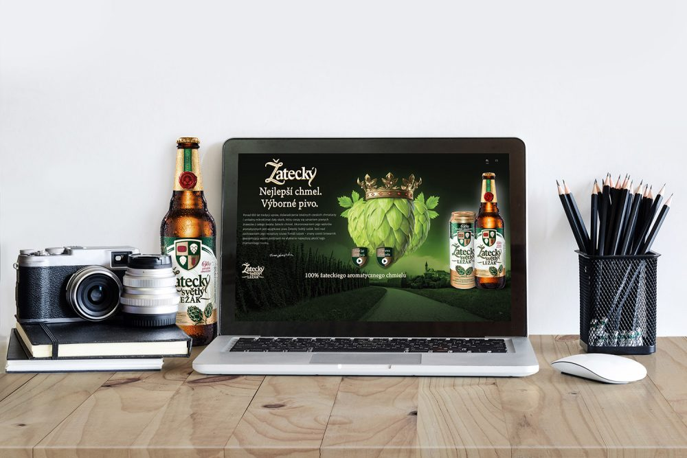 Zatecky Svetly Lezak Webdesign