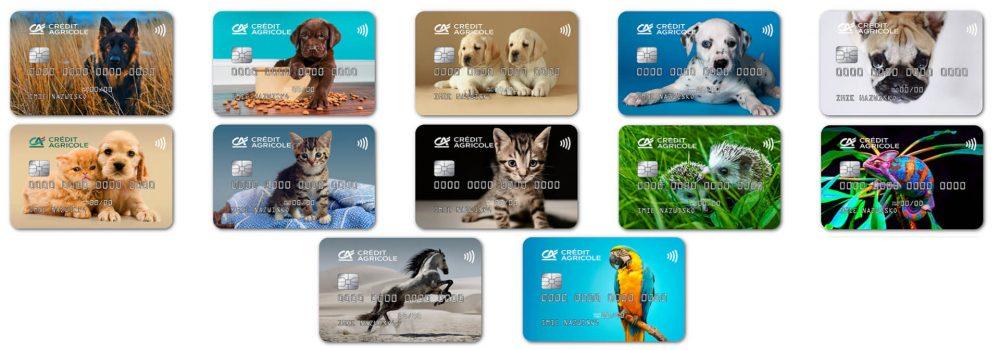 Credit Agricole karty Jestem fanem zwierząt