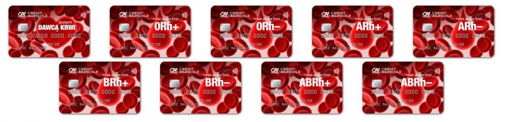 Credit Agricole karty Grupy krwi