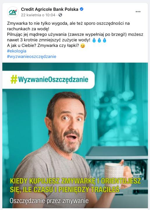Credit Agricole Wyzwanie Oszczędzanie facebook8