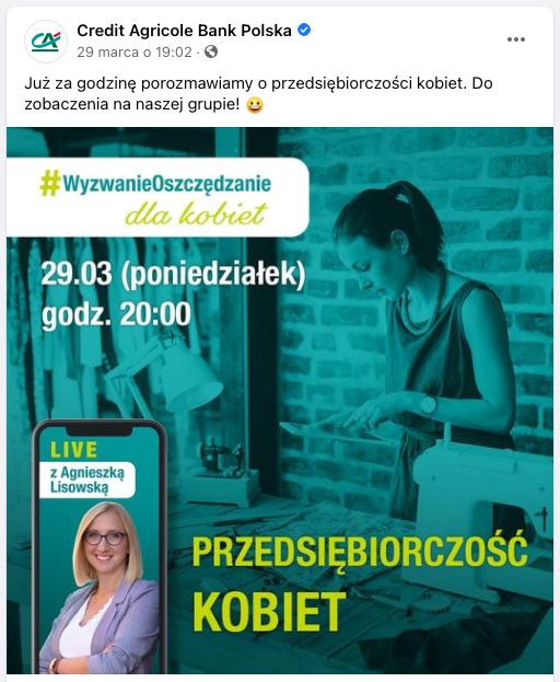 Credit Agricole Wyzwanie Oszczędzanie facebook6