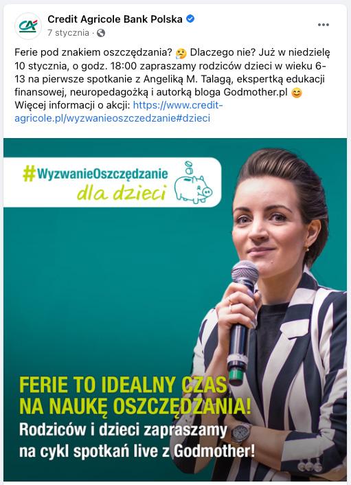 Credit Agricole Wyzwanie Oszczędzanie facebook4